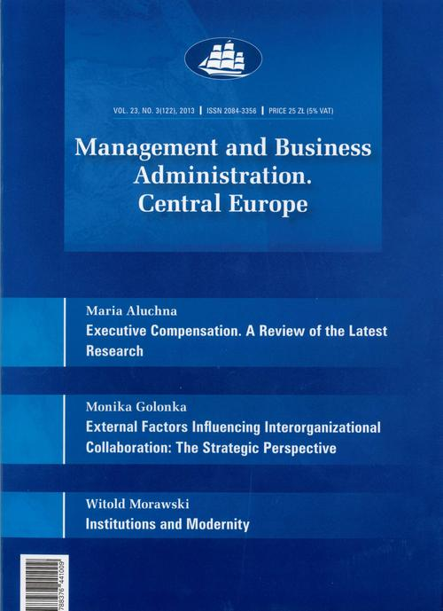 Management and Business Administration. Central Europe - 2013 - 3