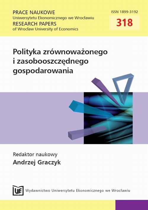 Polityka zrównoważonego i zasobooszczędnego gospodarowania. PN 318
