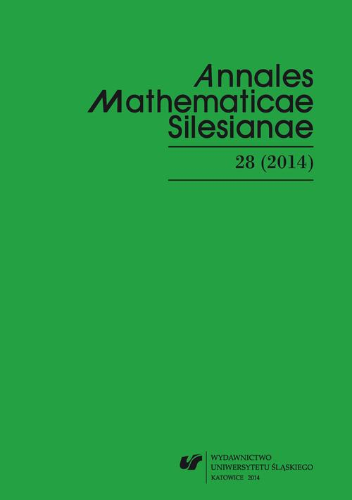 """Annales Mathematicae Silesianae"". T. 28 (2014) - 03 On approximate n-Jordan homomorphisms"