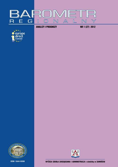 Barometr Regionalny. Analizy i Prognozy. Nr 1(27)