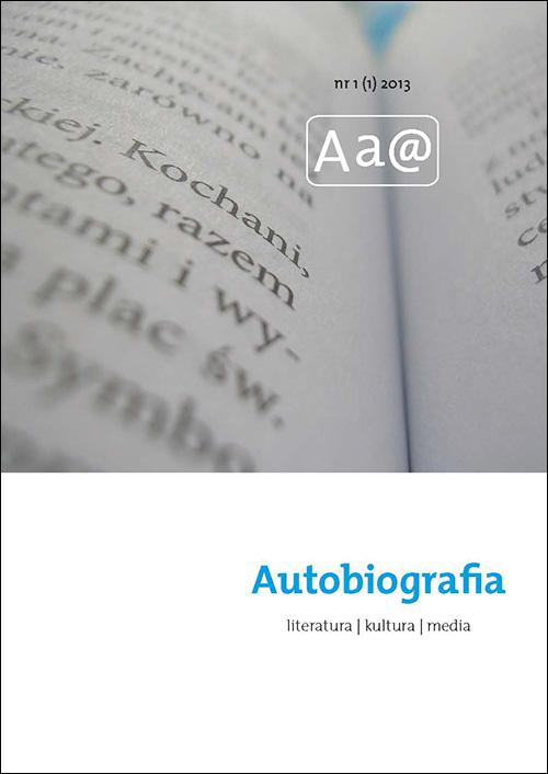 Autobiografia. Literatura. Kultura. Media