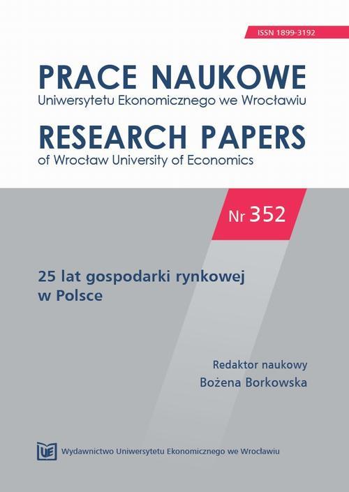 25 lat gospodarki rynkowej w Polsce. PN 352