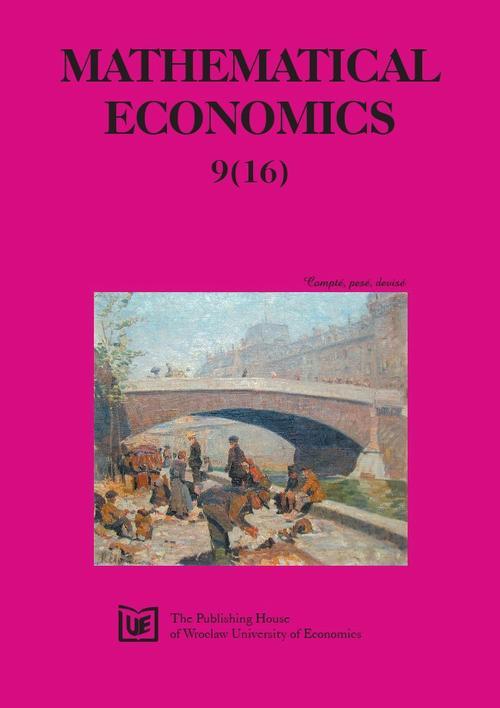 Mathematical Economics 9(16) 2013