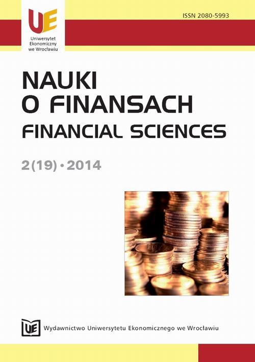 Nauki o Finansach 2014, Nr 2 (19)