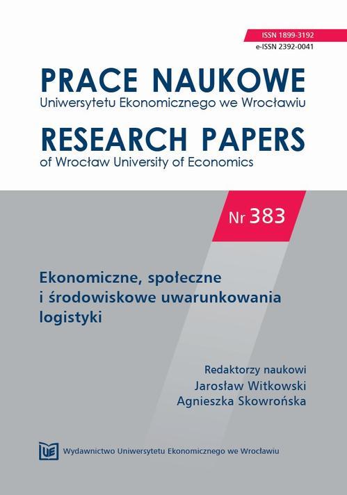 Ekonomiczne, społeczne i środowiskowe uwarunkowania logistyki. PN 383