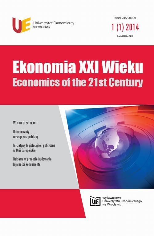 Ekonomia XXI Wieku 2014, nr 1(1)