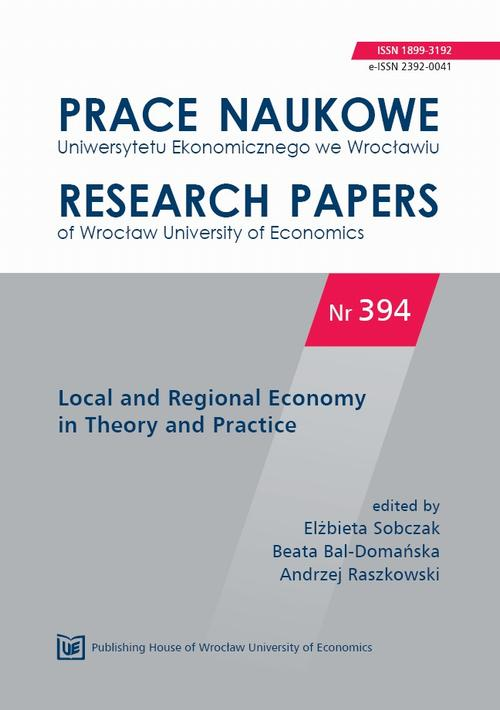 Local and Regional Economy in Theory and Practice. PN 394