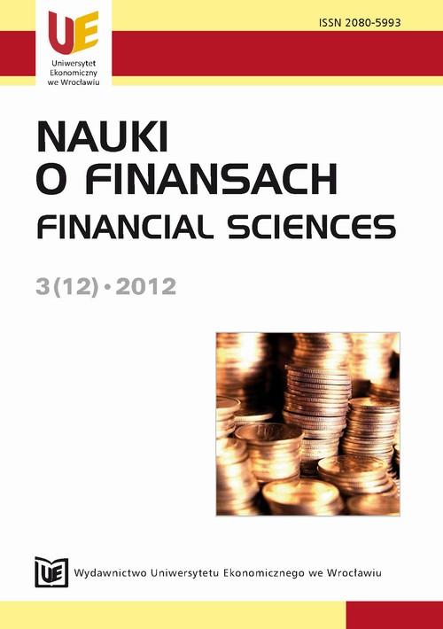 Nauki o Finansach 3(12)