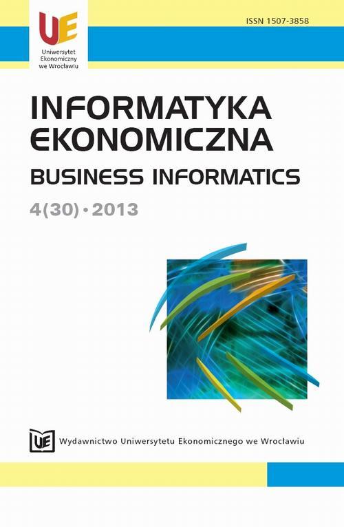 Informatyka Ekonomiczna  2013, nr 4(30)