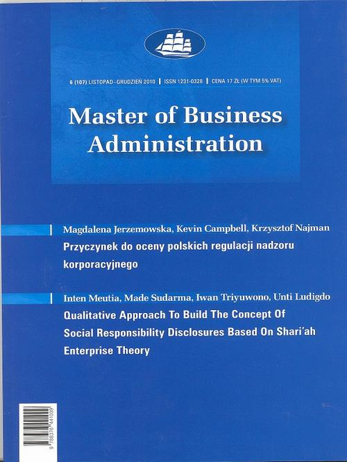 Master of Business Administration - 2010 - 6
