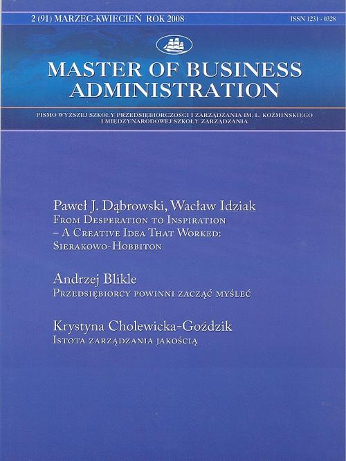 Master of Business Administration - 2008 - 2