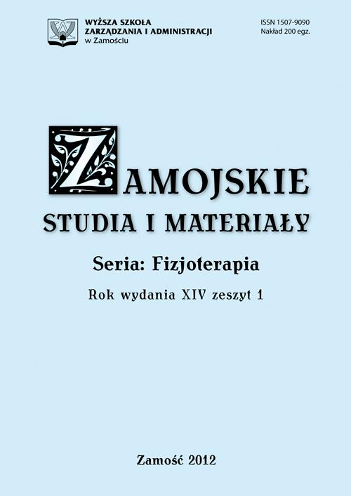 Zamojskie Studia i Materiały. Seria Fizjoterapia. T. 14, z. 1