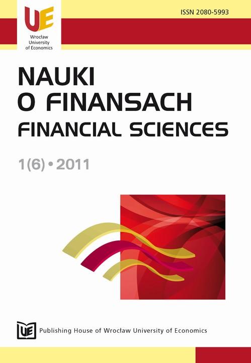 Nauki o Finansach 1(6)-2011