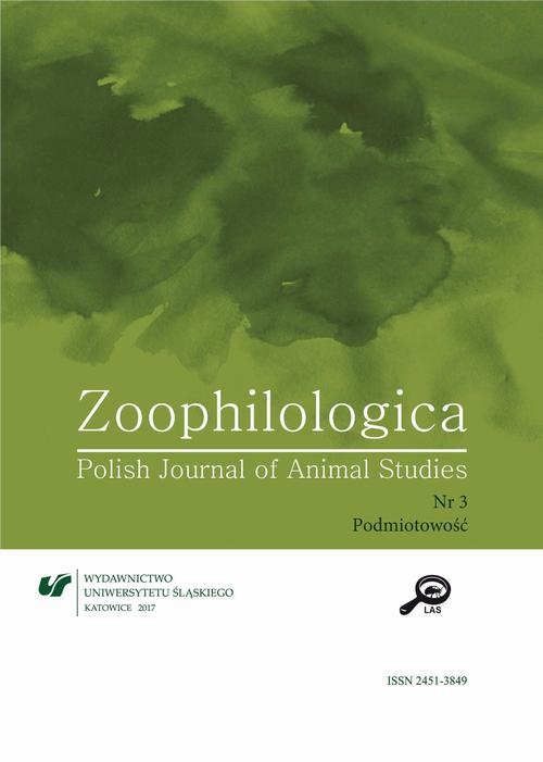 Zoophilologica. Polish Journal of Animal Studies 2017, nr 3: Podmiotowość
