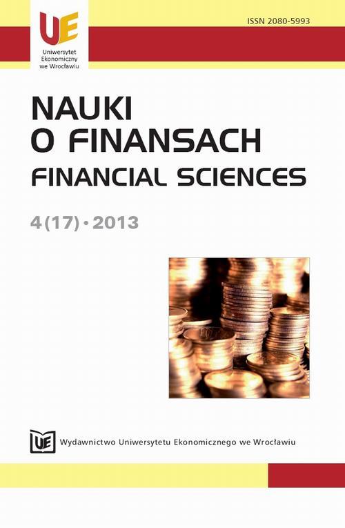 Nauki o Finansach 2013, nr 4(17)