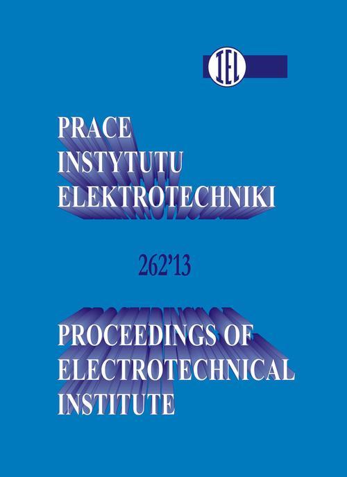 Prace Instytutu Elektrotechniki, zeszyt 262
