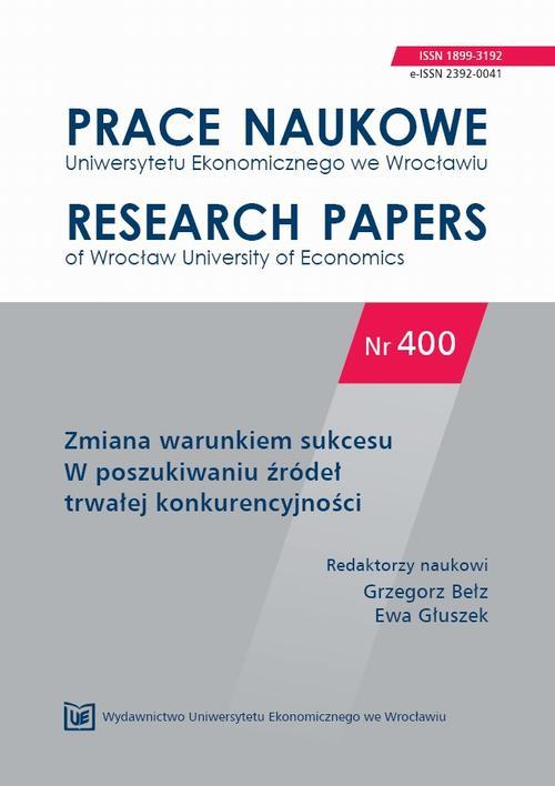 Zmiana warunkiem sukcesu. W poszukiwaniu źródeł trwałej konkurencyjności. PN 400