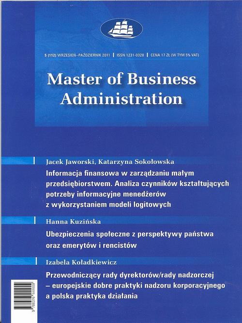 Master of Business Administration - 2011 - 5