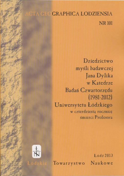 Acta Geographica Lodziensia t. 101/2013