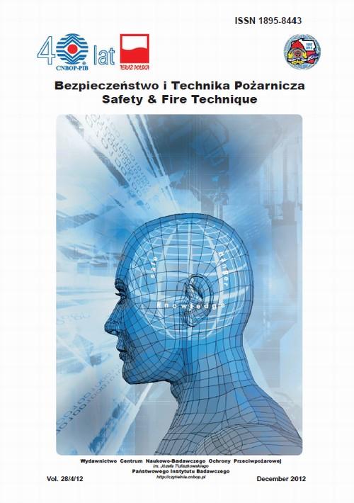 Bezpieczeństwo i Technika Pożarnicza, Vol.28/4/2012