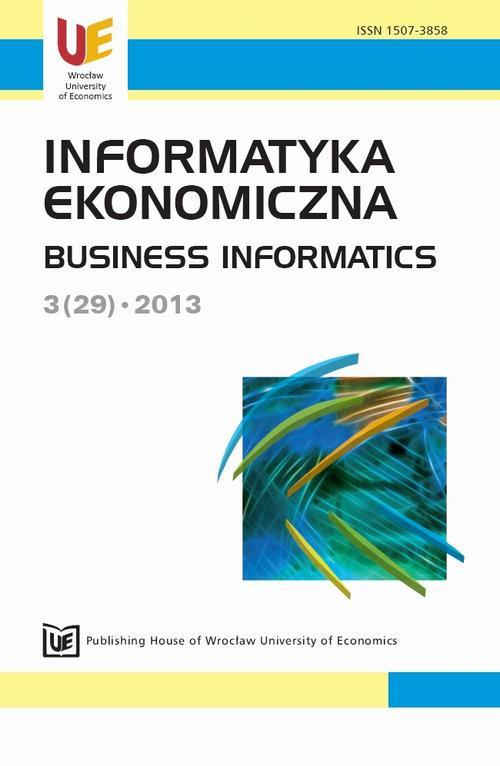Informatyka Ekonomiczna 2013, nr 3(29)