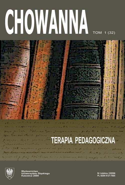 """""""Chowanna"""" 2009, R. 52 (65), T. 1 (32): Terapia pedagogiczna - 01 Terapia pedagogiczna - wprowadzenie"""