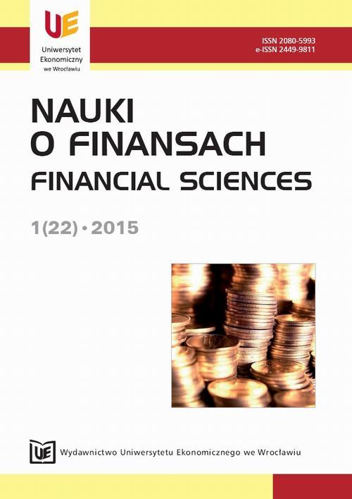 Nauki o Finansach 1(22) 2015