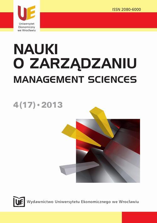 Nauki o Zarządzaniu 2013, nr 4(17)