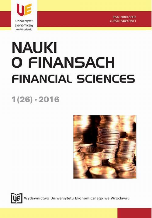 Nauki o Finansach 1(26)