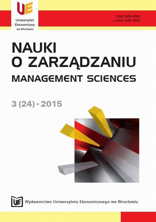 Nauki o Zarządzaniu, nr 3(24)