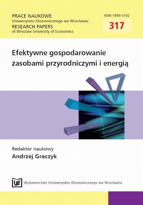 Efektywne gospodarowanie zasobami przyrodniczymi i energią. PN 317