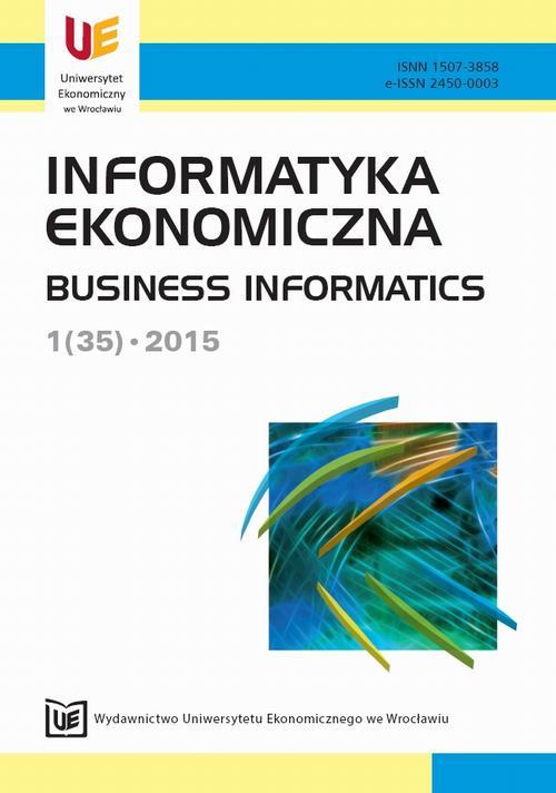 Informatyka Ekonomiczna 2015, nr 1(35)