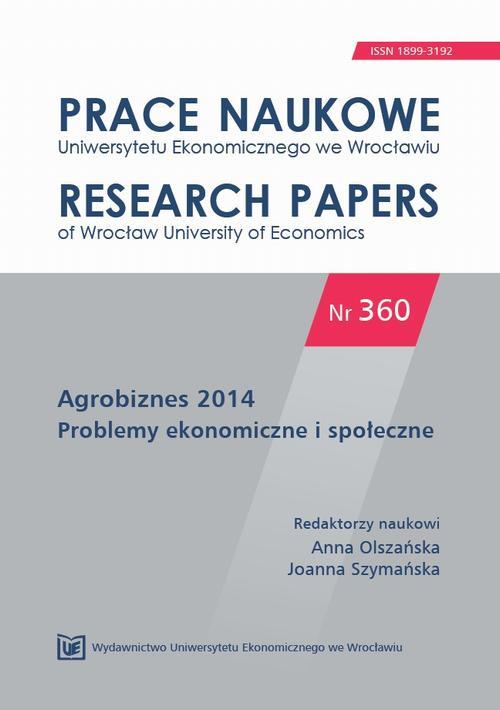 Agrobiznes 2014.  Problemy ekonomiczne  i społeczne. PN 360