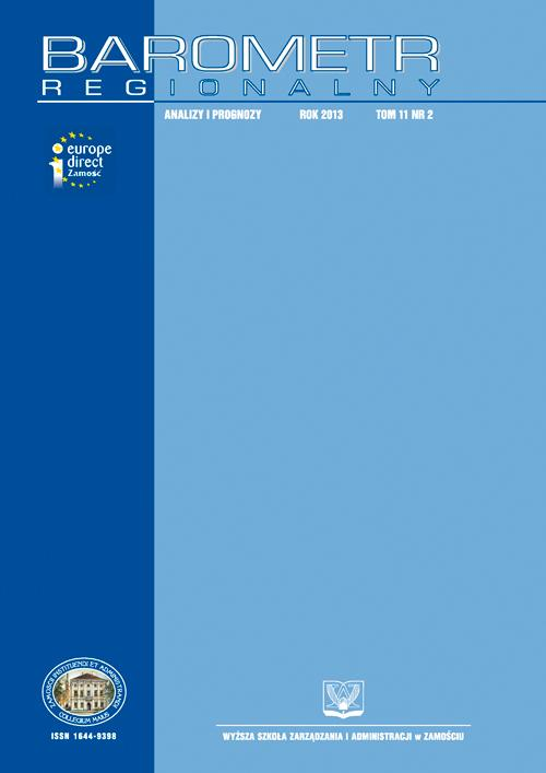 Barometr Regionalny. Analizy i Prognozy. T. 11, nr 2