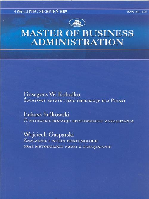 Master of Business Administration - 2009 - 4