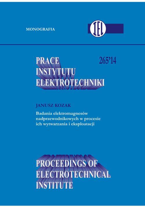 Prace Instytutu Elektrotechniki, zeszyt 265