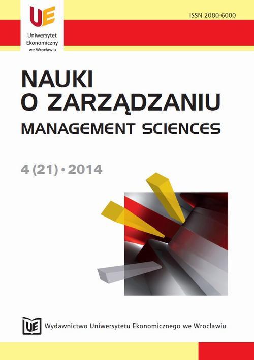 Nauki o Zarządzaniu 2014, nr 4(21)
