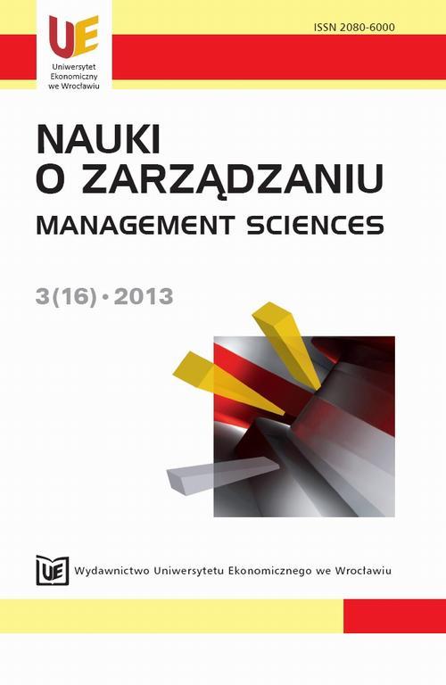 Nauki o Zarządzaniu 2013, nr 3(16)