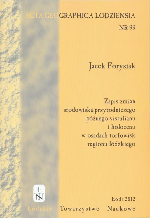 Acta Geographica Lodziensia t. 99/2012