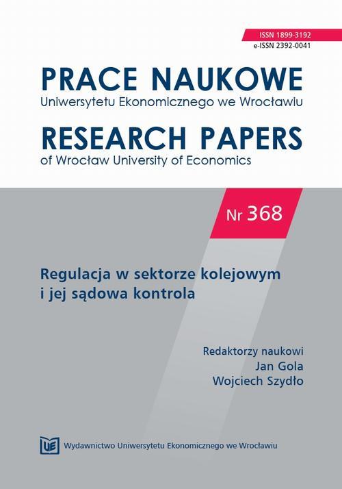 Prace Naukowe Uniwersytetu Ekonomicznego we Wrocławiu nr 368