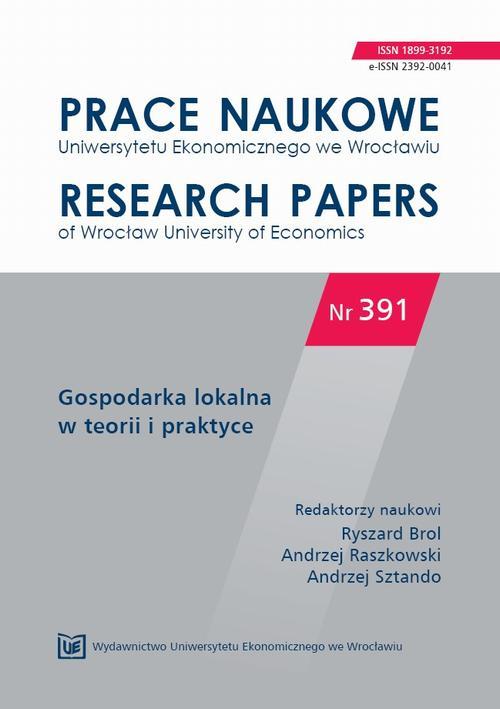 Gospodarka lokalna w teorii i praktyce. PN 391