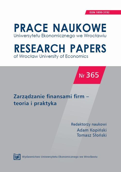 Zarządzanie finansami firm – teoria i praktyka. PN 365