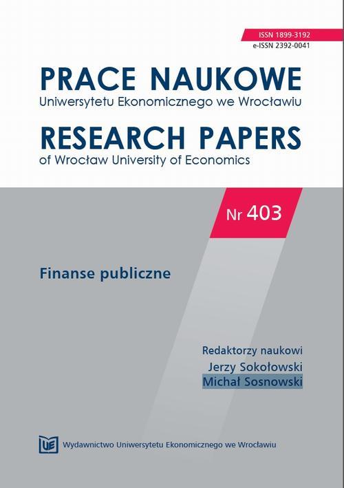 Prace Naukowe Uniwersytetu Ekonomicznego we Wrocławiu nr 403