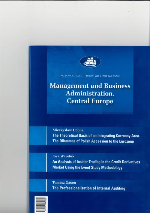 Management and Business Administration. Central Europe - 2013 - 4