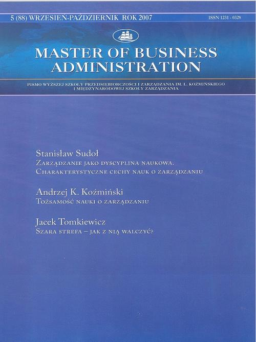 Master of Business Administration - 2007 - 5