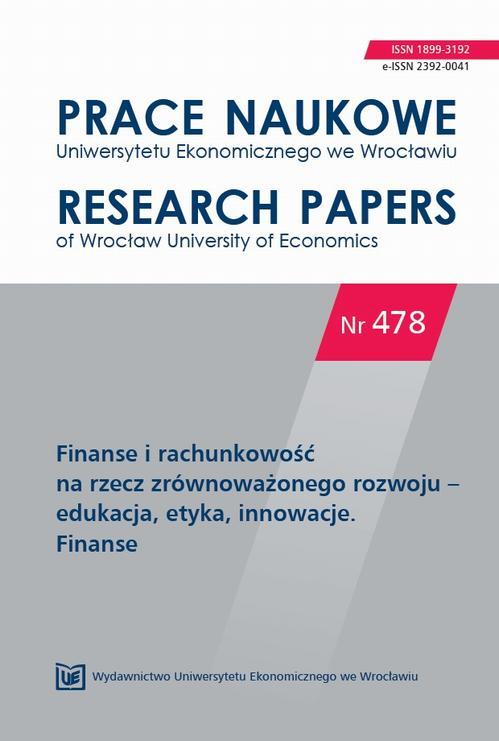 Prace Naukowe Uniwersytetu Ekonomicznego we Wrocławiu, nr 478