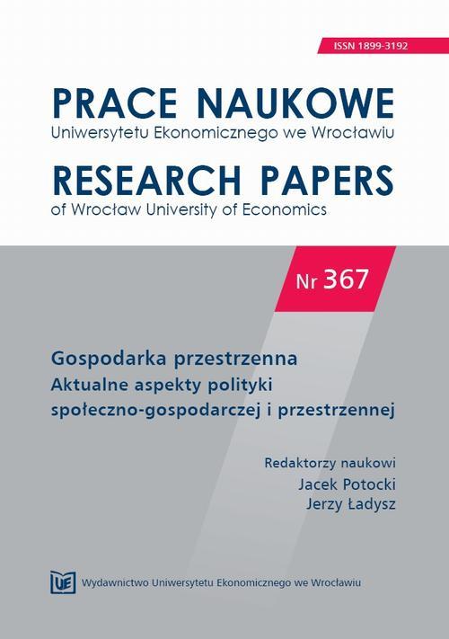 Gospodarka przestrzenna. Aktualne aspekty polityki społeczno-gospodarczej  i przestrzennej. PN 367